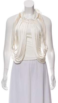 Alice + Olivia String Drape Crop Top