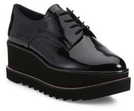 Stuart Weitzman Kent Patent Leather Platform Creeper Shoes $455 thestylecure.com