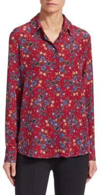 Altuzarra Chika Silk Floral Button-Down Blouse