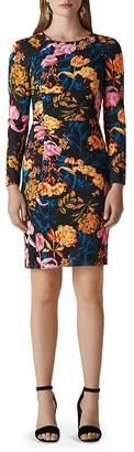 Whistles Digital Bloom Body-Con Dress