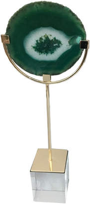 Three Hands Corp Gold-Tone & Green Agate Decor Accent
