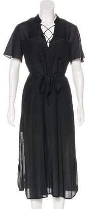 Frame Silk-Blend Midi Dress