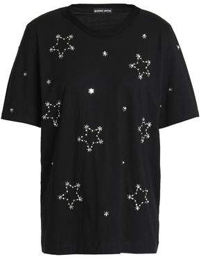 Markus Lupfer Alex Studded Beaded Cotton-Jersey T-Shirt