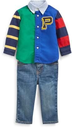 Ralph Lauren Cotton Shirt, Belt & Jean Set