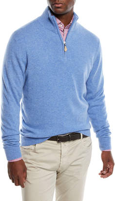 Neiman Marcus Men's Cashmere Half-Zip Sweater
