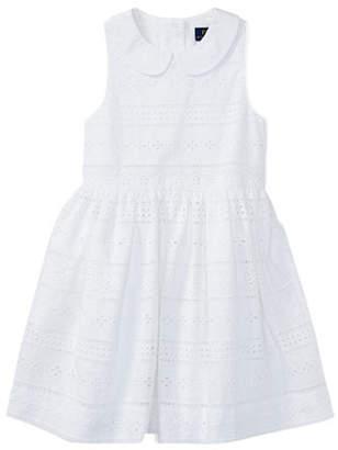 Ralph Lauren Eyelet Sleeveless Cotton Dress