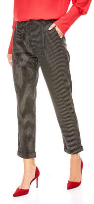Best Mountain Pull on Elastic Waist Pin Stripe Pants