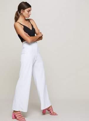 Miss Selfridge White belted wide leg trousers