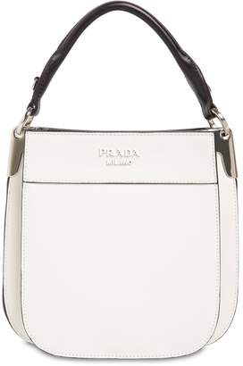 Prada Mini Three Folder City Leather Bag