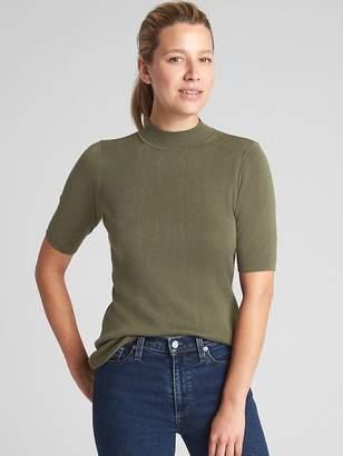 Gap Short Sleeve Mockneck Sweater