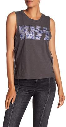 Lucky Brand Kiss Lace Up Tank Top