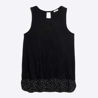 c5c554b9f44a43 at J.Crew Factory · J.Crew Factory Drapey tank top with patterned silky hem