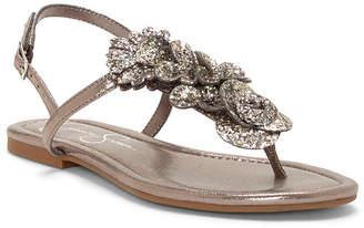 Jessica Simpson Kelanna Embellished Flat Sandals Women's Shoes