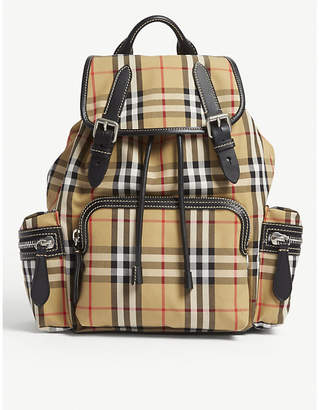 Burberry Brown Check Vintage Cross Body Rucksack