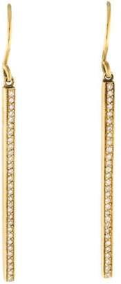 Jennifer Meyer 18K Diamond Bar Drop Earrings