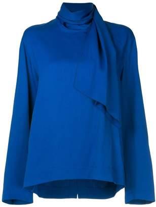 Joseph scarf neckline blouse
