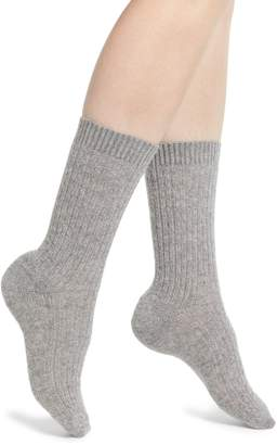 Nordstrom Cable Knit Cashmere Blend Crew Socks