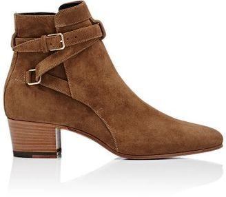 Saint Laurent Women's Blake Ankle Boots-TAN $895 thestylecure.com
