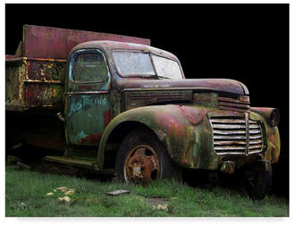 "Hunter Larry 'Macs Trucking Gmc' Canvas Art - 32"" x 24"""