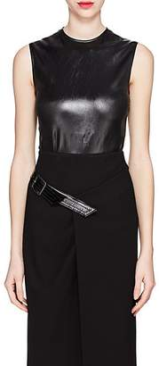 Givenchy Women's Coated Satin Top - Black