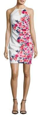 GUESS Floral Halter Sheath Dress