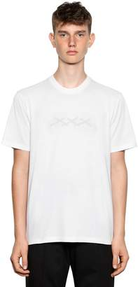 Tripla X Logo Printed Cotton T-Shirt