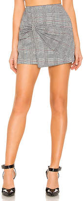 by the way. Eliza Knot Front Mini Skirt