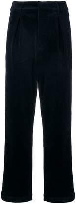 Ganni straight leg corduroy trousers