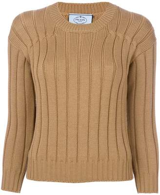 Prada ribbed crew neck sweater
