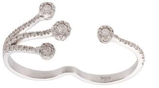 YEPREM 18kt white gold diamond two finger ring