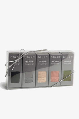 Blush Lingerie Mesh Thong Set