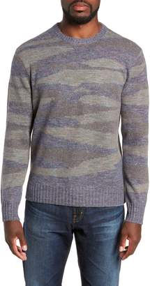 Michael Bastian Camo Intarsia Regular Fit Sweater
