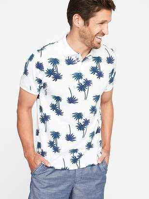 Old Navy Printed Built-In Flex Moisture-Wicking Pro Polo for Men