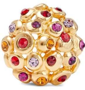 Ben-Amun 24-Karat Gold-Plated Swarovski Crystal Brooch