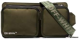 Off-White green multi-compartment cross body bag