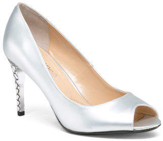 Wide Peep Toe Pumps