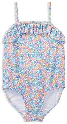 Ralph Lauren Girls' Ruffled Floral Swimsuit - Baby