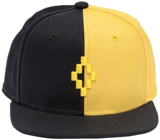 Marcelo Burlon County of Milan Two Tone Embroidered Canvas Hat