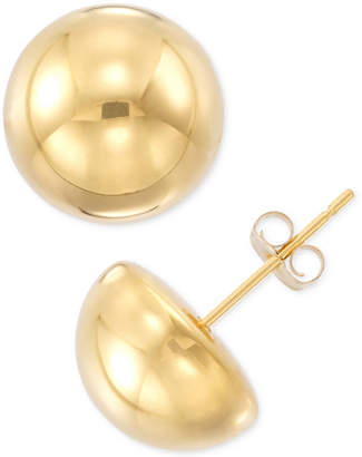 At Macy S Signature Gold Half Sphere Stud Earrings In 14k Or White Over Resin