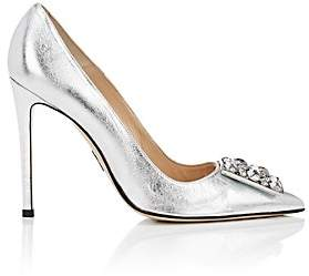 Paul Andrew Women's Ornament-Detailed Metallic Leather Pumps - Silver