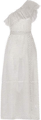 Lisa Marie Fernandez Arden One-shoulder Polka-dot Cotton-voile Maxi Dress - White