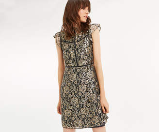 Oasis METALLIC SHIFT DRESS