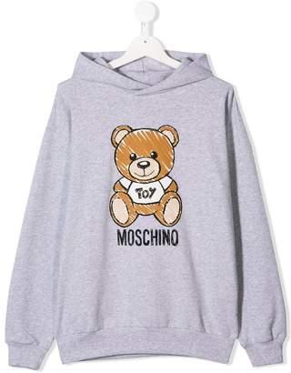 Moschino Kids TEEN Teddy Bear hoodie