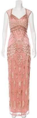Sue Wong Sleeveless Embellished Gown