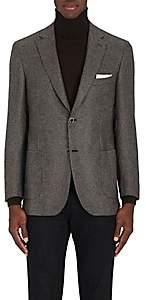 Brioni Men's Ravello Neat Cashmere-Silk Two-Button Sportcoat - Beige, Tan