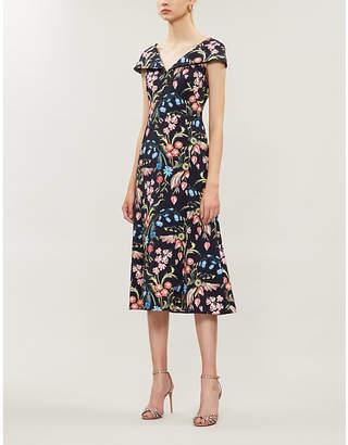 Peter Pilotto Floral-print stretch-crepe midi dress
