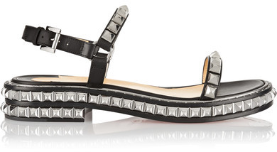 Christian Louboutin - Athossita 30 Studded Leather Sandals - Black