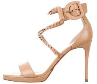 Christian Louboutin Choca Lux Platform Sandals Tan Choca Lux Platform Sandals