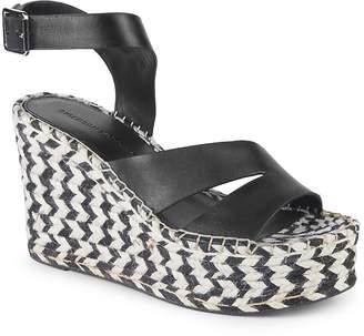 Sigerson Morrison Women's Arien Leather Platform Wedge Sandals