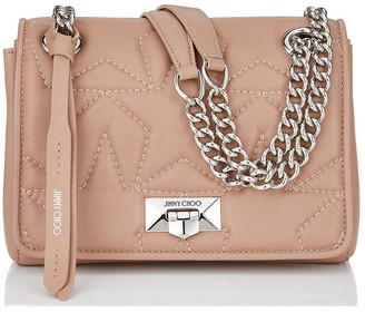 Jimmy Choo HELIA SHOULDER BAG/S Ballet Pink Shoulder Bag with Chain Strap